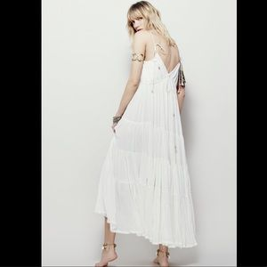 Free People Dresses - Free People Halter Drawstring Swing Maxi Dress S